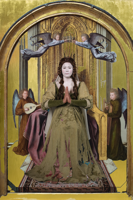 , 'Jumping into 'The Virgin and Child Enthroned with Four Angels, Quinten Massys',' 2017, Purdy Hicks Gallery