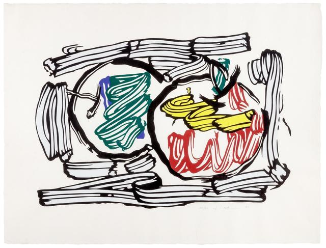 Roy Lichtenstein, 'Two Apples (from Seven Apple Woodcut Series)', 1983, Print, Color woodcut, Hindman