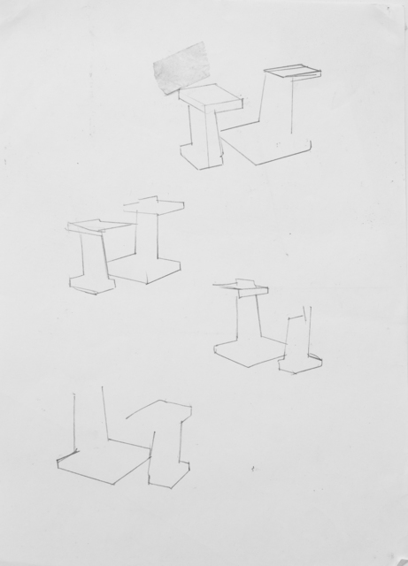 , 'set (pedestal),' 2015, VILTIN Gallery