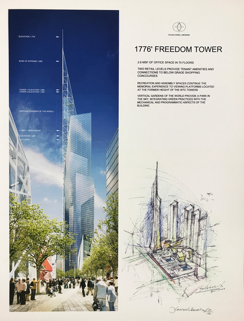 Daniel Libeskind, '1776 Freedom Tower', 2004, CITYarts Benefit Auction