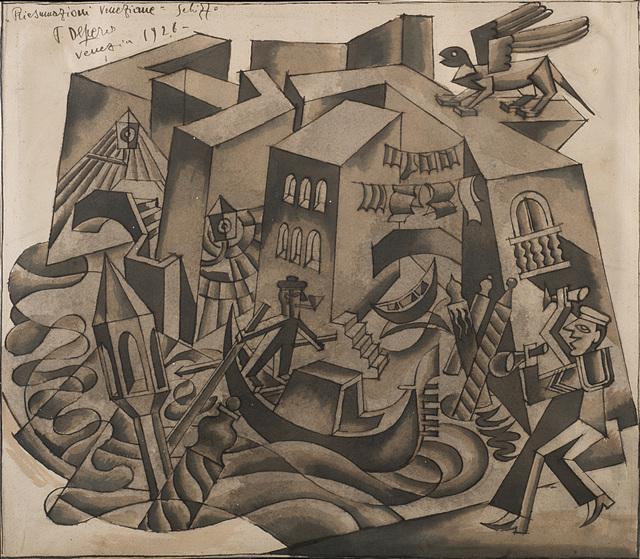 Fortunato Depero, 'Riesumazioni veneziane', 1926, Il Ponte