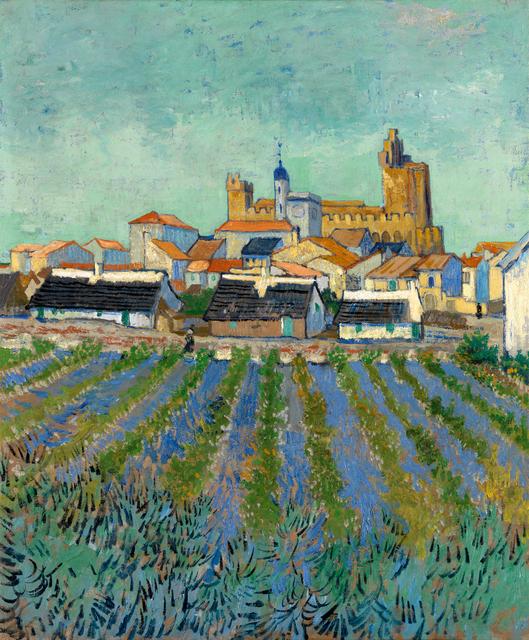 Vincent van Gogh, 'View of Saintes-Maries-de-la-Mer', 1 -3 June 1888, Painting, Oil on canvas, Kröller-Müller Museum