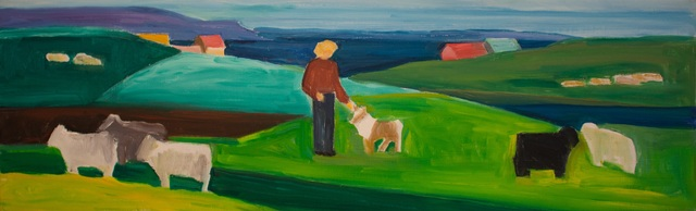 , 'Figure with Dog, Sheep, and Houses,' N.D., Reynolds Gallery