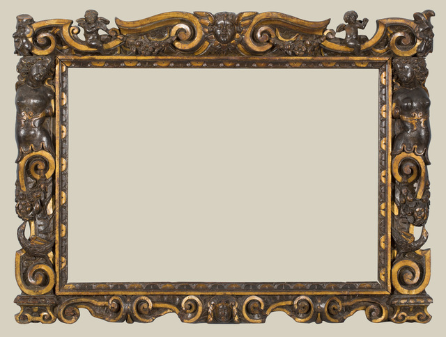 , 'A carved and partially gilded Sansovino frame,' 1560-1580, The National Gallery, London