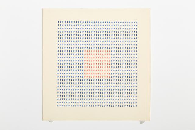 , 'Typecode 6,' 1978, Richard Saltoun
