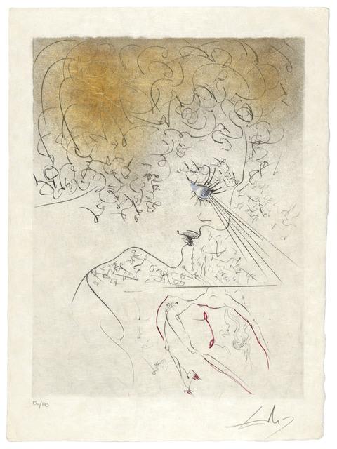 Salvador Dalí, 'Venus aux Fourrures', 1969, Print, The complete set of 16 drypoints with hand-colouring in watercolour and gold paint on Japon nacré paper, Christie's
