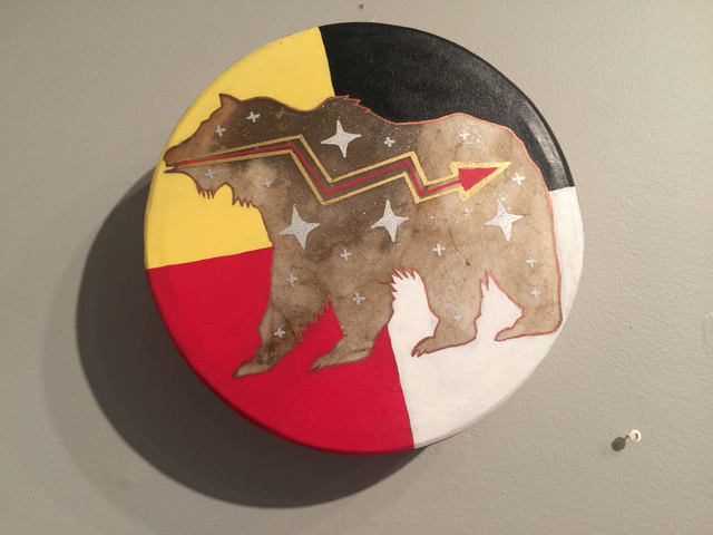 ", 'Hand Drum, ""Cosmic Bear"",' 2018, John Molloy Gallery"