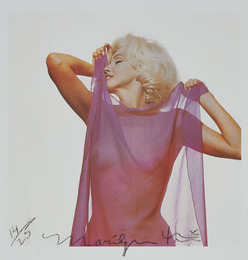 Marilyn With Pink Scarf (Later Impression)