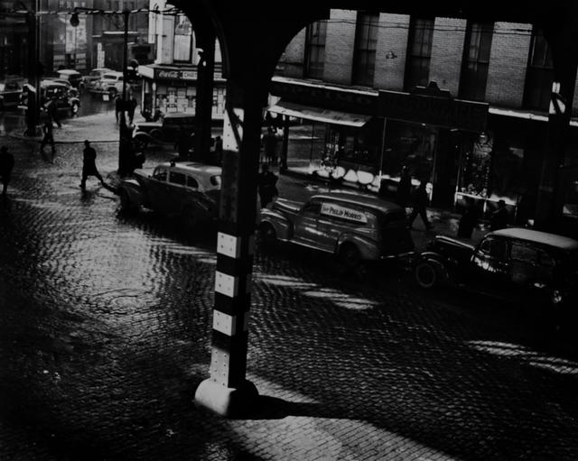 Todd Webb, 'Under the El, Chatham Square, New York', 1945, Scheinbaum & Russek Ltd.