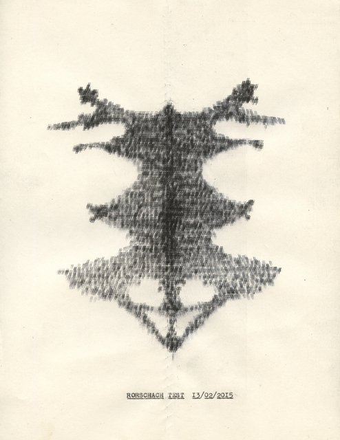 , 'Rorscharch Test (from the Typewriter Drawings series),' 2016, Catharine Clark Gallery