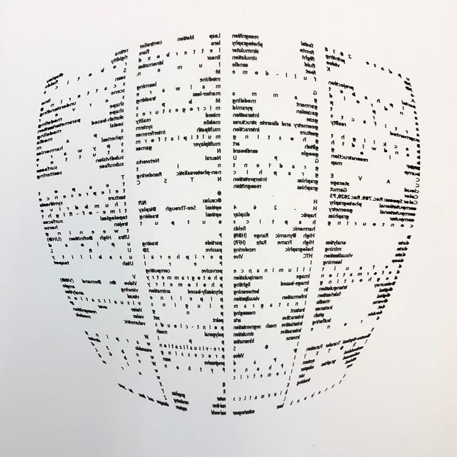 , 'Alphabet Gestures 25 Cutback,' 2018, ODETTA