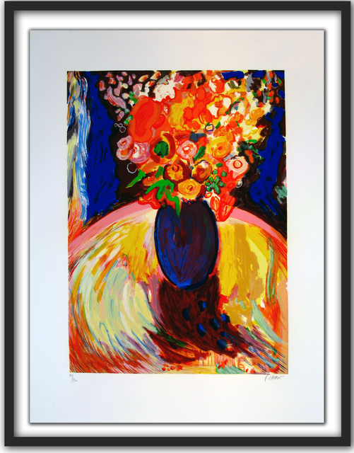 Yehouda Chaki, 'Yellow Bouquet in Blue Vase', 2015, Newzones