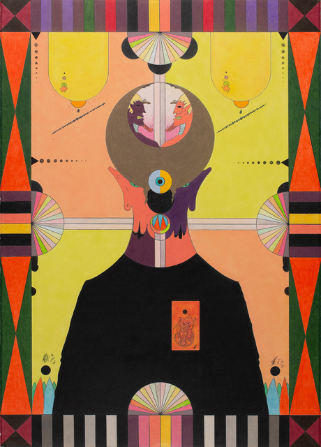 William Fields, 'Theosibal, Guardian of the arts, artists, animals and the arcane', 2020, Drawing, Collage or other Work on Paper, Fabriano, Caran d'Ache pencils, Unison pastels, Cavin-Morris Gallery