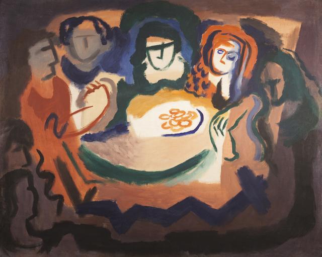 Germaine Derbecq, 'Afternoon tea', 1930, Painting, Oil on canvas, Calvaresi