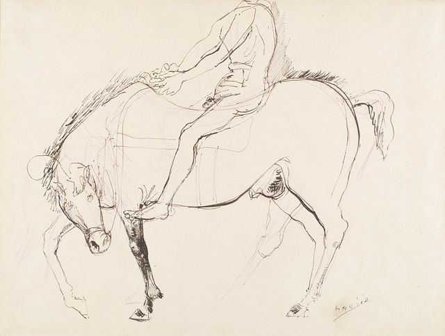 Marino Marini, 'Cavallo e cavaliere', Drawing, Collage or other Work on Paper, China and mixed media on paper, Il Ponte
