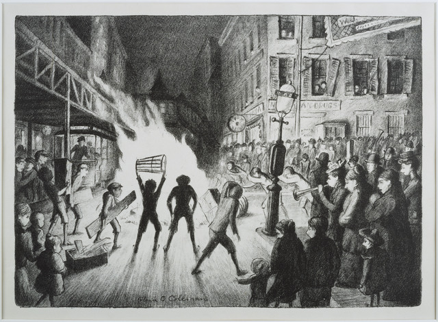 Glenn O. Coleman, 'Election Night Bonfire', Date unknown, Phillips Collection