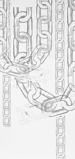 , 'Chains (Wallpaper),' 2015, Spike Island