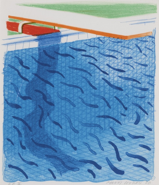 David Hockney, 'Pool Made with Paper and Blue Ink for Book (M.C.A.T. 234)', 1980, Sotheby's