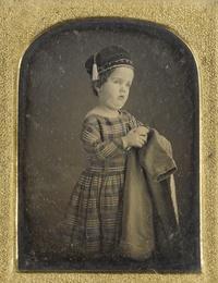 Achondroplastic Dwarf in Tartan Dress and Smoking Cap