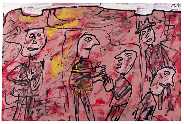 , 'Paysage avec cinq personnages (T 13) 11 juin 1975,' 1975, Waddington Custot