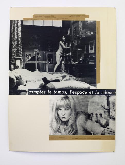 , 'Il Faut compter les temps,l'espace et le silence,' 1980, Galería Heinrich Ehrhardt