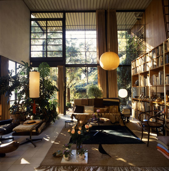 Eames House living room, Photograph: Antonia Mulas © Eames Office LLC