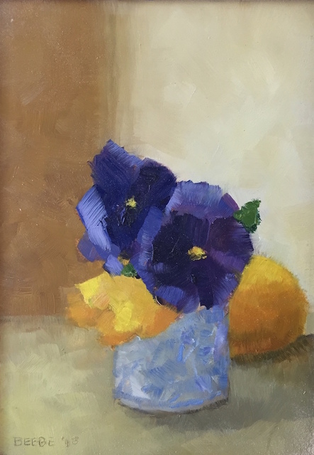 , 'Pansies in a Blue and White Pot,' 2017, PDX CONTEMPORARY ART