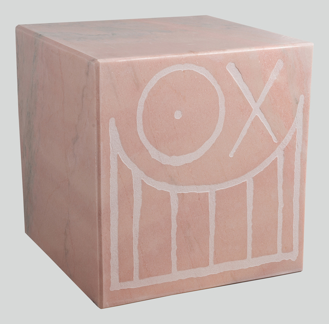 , 'Mr. A Pink Marble Cube 45 cm 2,' 2018, Underdogs Gallery