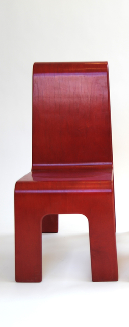 , 'Red Circle Cut Out Chair,' 1990, kinder MODERN