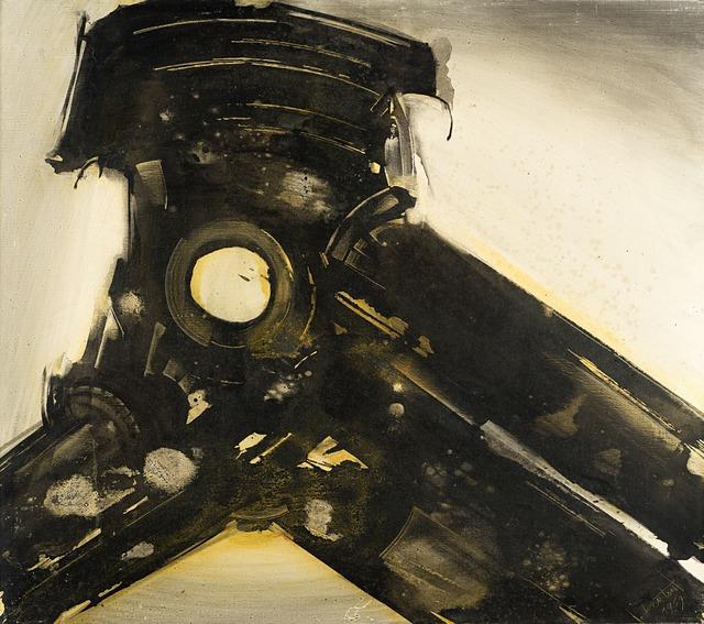 Gianni Bertini, 'Furore di Pandora', 1959, Painting, Mixed media on canvas, Il Ponte