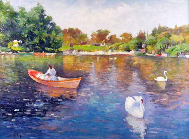William Charles Perry, 'Summer Afternoon on the Pond', ca. 1995, Janus Galleries