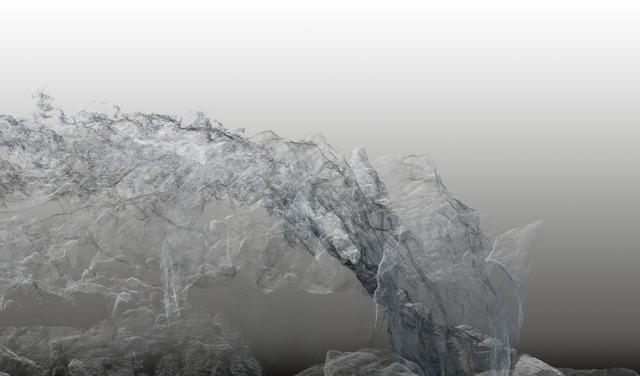 , 'Continuous Topography, Argentière glacier no. 02,' 2016, SCHEUBLEIN + BAK