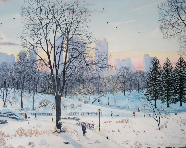 , 'Winter Landscape - Central Park,' 2016, Rebecca Hossack Art Gallery