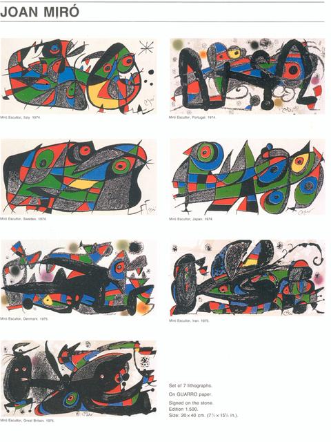 , 'Miro Sculptor,' 1974, Fairhead Fine Art Limited