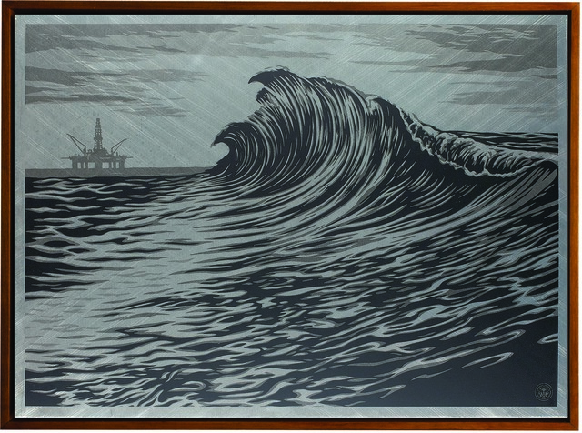 Shepard Fairey, 'Water is the New Black', 2015, Underdogs Gallery