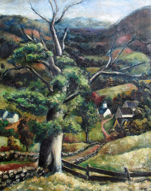 , 'From Lake Hill, Woodstock NY,' 1927, Caldwell Gallery Hudson