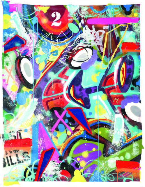 Cope2, 'It is human nature', Painting, Spray paint, acrylic and stencil on canvas, DIGARD AUCTION