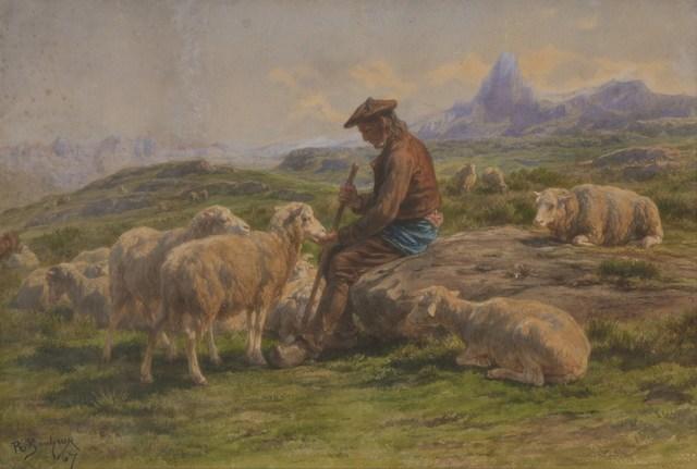 Rosa Bonheur, 'Shepherd', 1867, Tiroche Auction House & Gallery