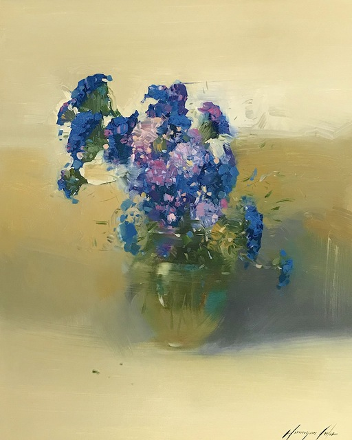 Vahe Yeremyan, 'Blue Flowers', 2019, Vayer Art