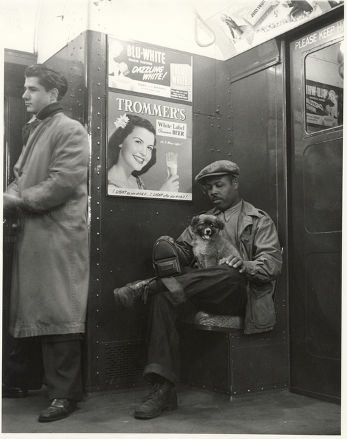 , 'Johnny Lunchbucket and Friend on the A Train, New York City,' 1939, Charles Schwartz Ltd.