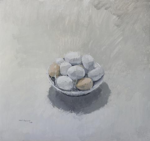 """, '""""Cuenco con huevos blancos y morenos"""",' 2017, Sala Parés"""