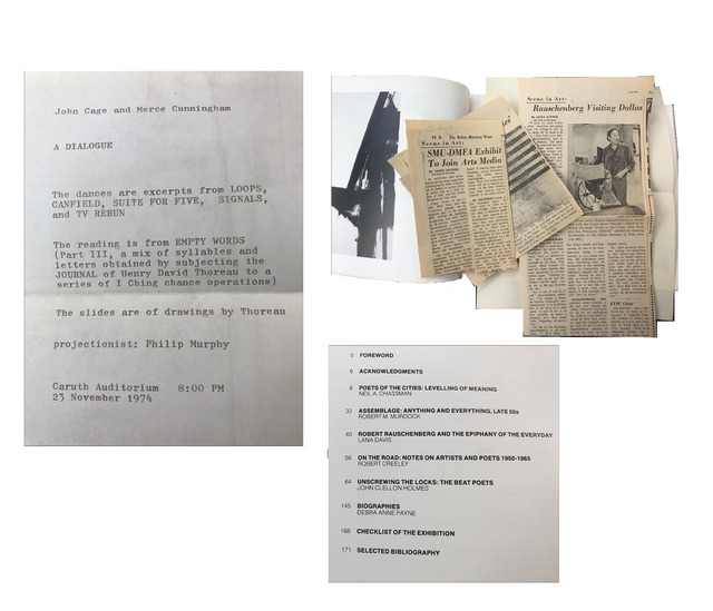 """Robert Rauschenberg, '""""Poets of the Cities New York and San Francisco 1950-1965"""", Signed by Robert Rauschenberg, John Cage, Merce Cunningham', 1974, Print, Ink on paper, VINCE fine arts/ephemera"""