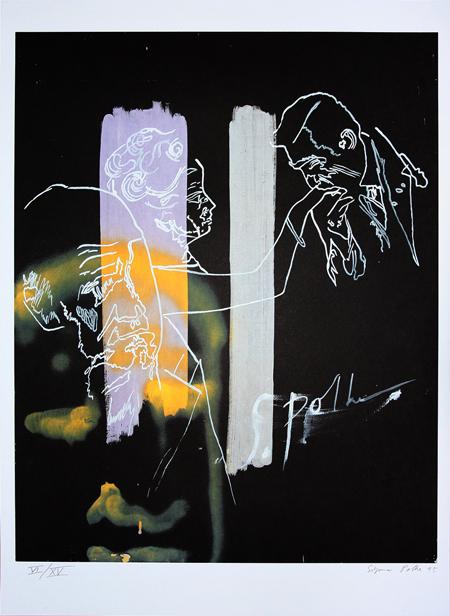 Sigmar Polke, 'Handkuss', 1995, Galerie Heinz Holtmann