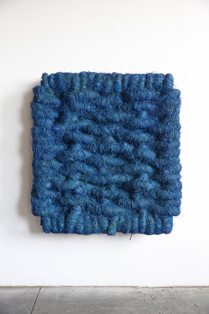 , 'Lichtbild Leinen Blau,' 2014, Albert Baronian