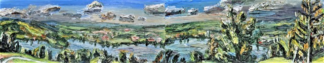 , 'Zugsee-Panorama (Diptych),' 2018, GALERIE URS REICHLIN