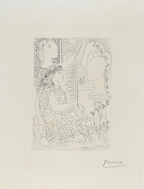Pablo Picasso, 'Deux modeles vetus from La Suite Vollard', 1933, Rago/Wright
