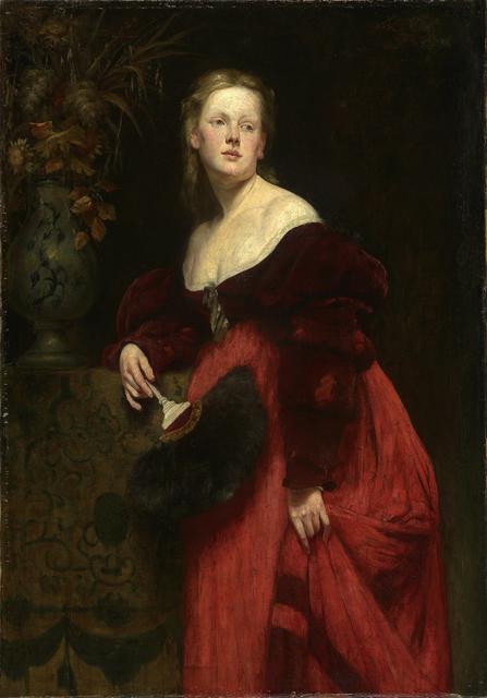 Hans Makart, 'Portrait Karoline Gomperz', about 1870, Belvedere Museum