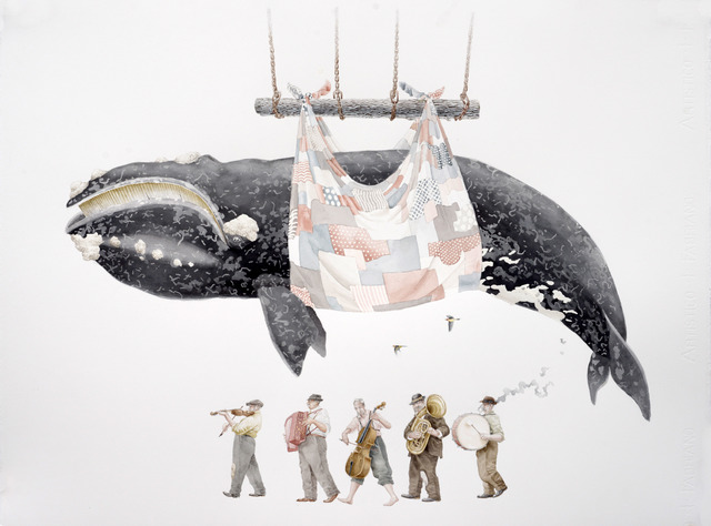 , 'Whale Variations,' 2015, Galerie Youn
