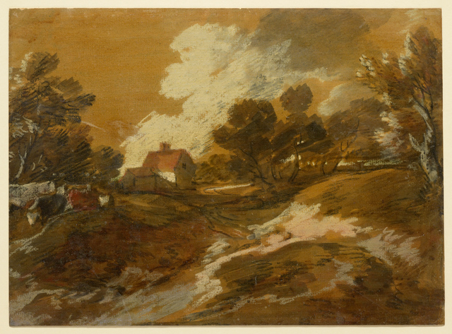 , 'Wooded Landscape with a Cottage and Cows,' Mid-1770s, Clark Art Institute