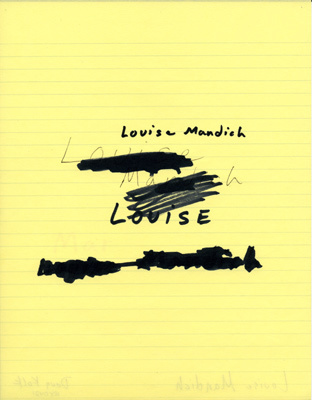 , 'Louise Mandich,' 1989, A3 Arndt Art Agency